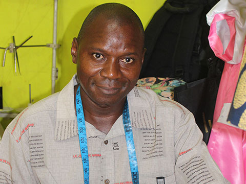 Kitenge african print clothing tailor in Tanzania Mrisho