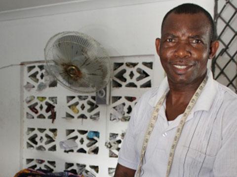 Kitenge african print clothing tailor in Tanzania Titus