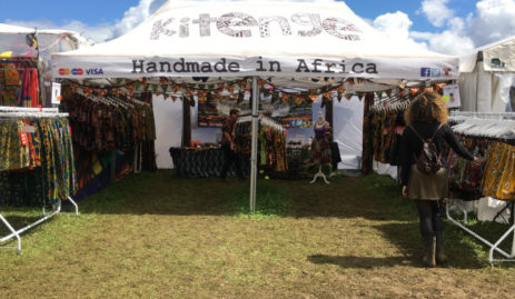 Kitenge stall at WOMAD Festival 2017