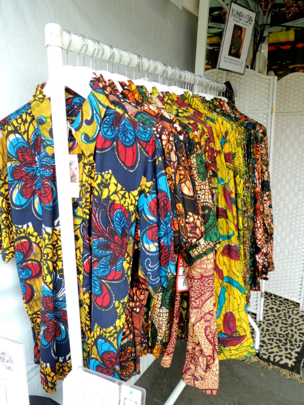 African menswear by Kitenge Store displayed on their stall at Africa on The Square 2017