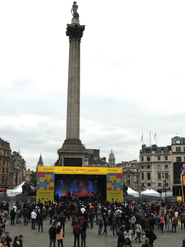 Main Stage at the Mayor of London's Africa on The Square 2017 held in Trafalgar Square London