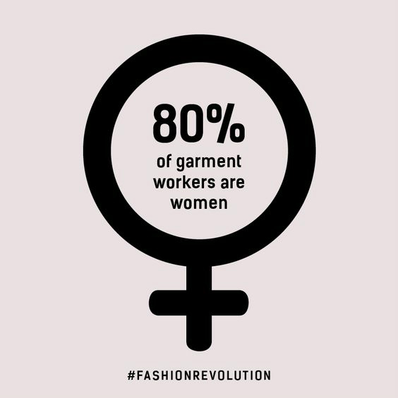 80% of garment workers are women Fashion Revolution