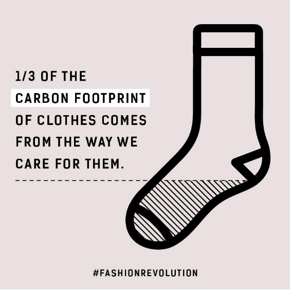 One third of the carbon footprint of clothes comes from the way we care for them Fashion Revolution sustainable clothing fact
