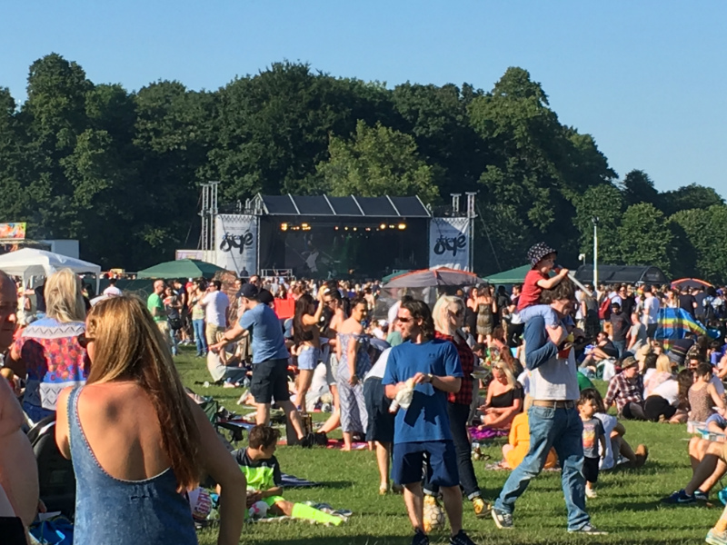 Africa Oye Festival stage Sefton Park in Liverpool