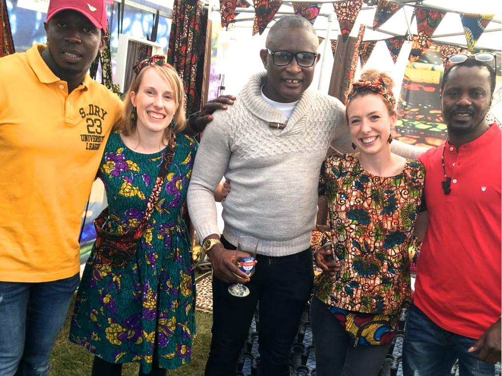 Kitenge crew making new friends inside our stall at Africa Oye Festival in Liverpool