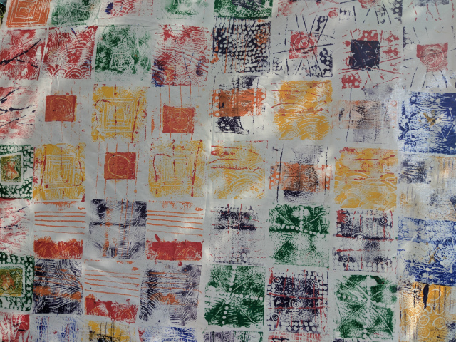 Traditional African clothing inspired children's printed artwork